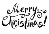 Merry christmas yazı — Stok Vektör