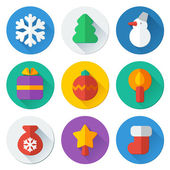 Christmas flat icons — Stock Vector
