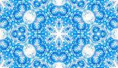 Blue floral seamless pattern in gzhel style — Stock Vector