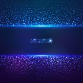 Blue cosmic star dust abctract background — Vector de stock