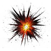 Black isolated vector star explosion with particles — Wektor stockowy