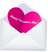 Pink Valentine's day heart — Vector de stock