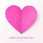 Pink Valentine's day heart — 图库矢量图片