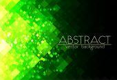 Helder groene raster abstracte horizontale achtergrond — Stockvector