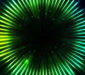 Green shining cosmic lights abstract background — Stockvektor