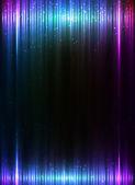 Blue vertical shining lights lines abstract leaflet background — Stockvektor