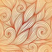 Beige doodle hair vector seamless pattern — Stock Vector