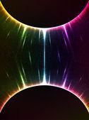 Sfere di luce arcobaleno cosmico gravità — Foto Stock
