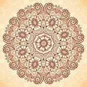 Mandala decorativa em estilo indiano mehndi — Vetor de Stock