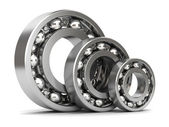 Group of bearings isolated — Photo