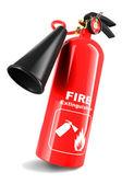 Fire extinguisher isolated — Stock Photo