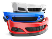 Car bumpers — Stock Photo