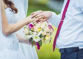 Wedding bouquet, flowers, roses, beautiful bouquet — Stock Photo