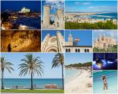 Collage of Palma De Mallorca — Stock Photo