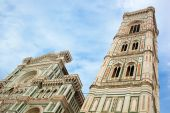 Bell Tower of the Basilica di Santa Maria del Fior,  Florence, I — Stok fotoğraf