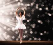 Ballet dancer on stage — Stock Photo