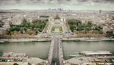 Panorama of Paris, the Trocadero and La Defense. — Stock Photo