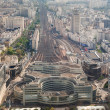 Aerial view of railway station, Paris — Stock Photo #56033527