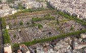 Aerial view of  Cemetery in Paris — Stock Photo