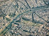 Paris aerial view with Eiffel Tower — Stock Photo
