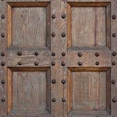 Detail of old solid wood door — Stock Photo
