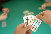 Card game with Neapolitan cards. — Stock fotografie