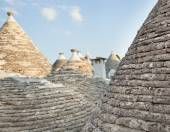 Trulli, the typical old houses in Alberobello. — Foto Stock