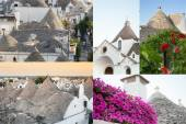 Postcard of Trulli, the typical old houses in Alberobello. — Foto de Stock