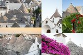 Postcard of Trulli, the typical old houses in Alberobello. — ストック写真