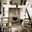 Old fireplace used for cooking — Stock Photo #58032703