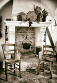 Old fireplace used for cooking — Stock Photo