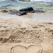 Heart drawn in the sand. — Stock Photo #59304237