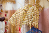 Old fishing nets made of straw and handmade — Stock Photo