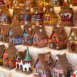 Sale of reproductions of small houses typical German. — Стоковое фото #60399999