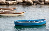 Fishing boats in the Gulf of Naples — 图库照片