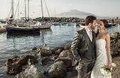 Married couple near the sea — Stock Photo