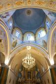 Interior of the Roman Catholic Cathedral of Fira. — Stock Photo