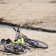 Two old bikes on the beach. — Stock Photo #63076447