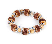 Wooden bracelet and crystal — Stock Photo