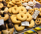 Bussolai cookies typical of the island of Burano in Venice. — Foto de Stock