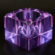 Glass ashtray blown of Murano amethyst color — Stock Photo #66396873