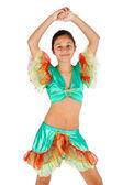 Latin Amerikalı giyim ile dans kızı — Stok fotoğraf