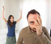 Relationship problems between husband and wife. — Stock Photo