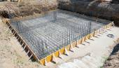 Foundation of a new house. — Stock Photo