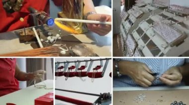 Pearls factory in Manacor — Stock Video