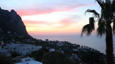 Sunset on Capri Island — Stock Video