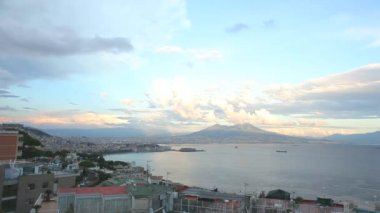 Timelapse view to Naples — Stock Video