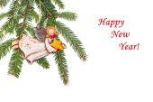 New Year's congratulatory background — Stock Photo
