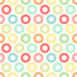 Primitive seamless retro pattern with bright circles — Stock Vector #53824251