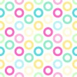Primitive seamless retro pattern with bright circles — Stock Vector #53824867